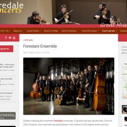 Mooredale Concert le 15 avril 2018 à Toronto